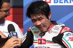 Noriyuki Haga - Aprilia RSV4 Factory - PATA Racing Royalty Free Stock Image