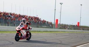 Noriyuki Haga bij de gebeurtenis van de Week 2010 van Ducati van de Wereld Stock Afbeelding