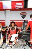 Noriyuki Haga bij de gebeurtenis van de Week 2010 van Ducati van de Wereld Stock Foto