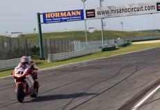 Noriyuki Haga bij de gebeurtenis van de Week 2010 van Ducati van de Wereld Stock Fotografie