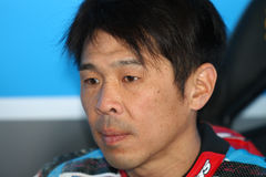 Noriyuki Haga #41 on BMW S1000 RR with Grillini DENTALMATIC SBK Team WSBK Royalty Free Stock Image