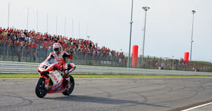 Noriyuki Haga at the World Ducati Week 2010 event stock image
