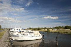 Norje yacht and caters harbor Royalty Free Stock Image