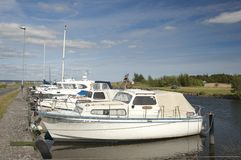 Norje yacht and caters harbor Stock Image