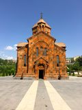 Nork, Yerevan, Armenia, Holy Mother of God Church. The St. Astvatsatsin Church (it was called 'St. Marinos before) is situated on the height of Nork royalty free stock photography