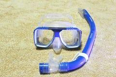 Norkeling wyposażenia błękit zdjęcie stock