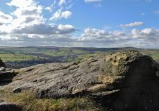 Norland Moor. Ladstone Rock on Norland Moor Royalty Free Stock Image