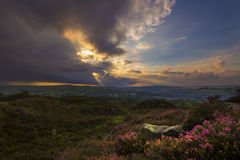 Norland moor sunset Royalty Free Stock Photography