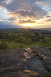Norland moor sunset Stock Photography