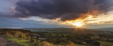 Norland moor sunset Royalty Free Stock Photo