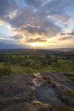 Norland moor sunset Stock Image
