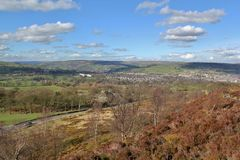Norland Moor. View of West Yorkshire from the moors Royalty Free Stock Photos