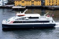 Speed catamaran EKSPRESSEN of Norled Stock Photography