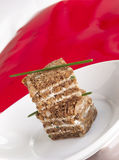 Norlender bread canapes stock images