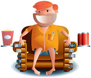 Norm the remote control dude Royalty Free Stock Images