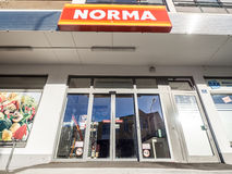 Norma entrance Stock Photo
