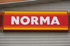 NORMA logo zdjęcia stock