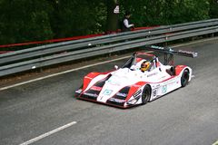 Norma M20FC racing at Rampa da Falperra 2012 Royalty Free Stock Photos