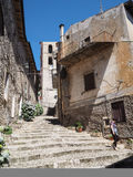 Norma medieval town in Italy Royalty Free Stock Photos