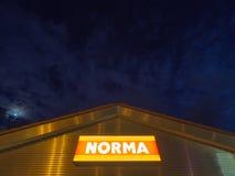Norma przy nocą Obraz Royalty Free