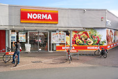 Norma-Rabattsupermarkt Stockbilder