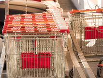 Norma shopping carts Royalty Free Stock Photography