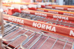 Norma shopping carts Royalty Free Stock Photo