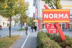 Norma sign Stock Images