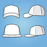 Normal And Fitted Caps - Illustration Stock Image