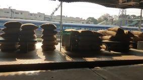 Railway platform Indian Royalty Free Stock Image
