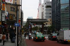 A normal day in tokyo with traffic. On the cross stock image
