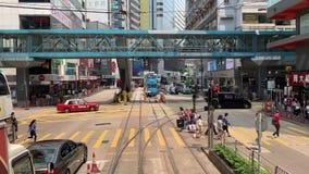 Normal daytime Causeway Bay City views stock video