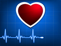 Normal ecg blue background. EPS 8 Royalty Free Stock Image