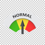 Normal level risk gauge vector icon. Normal fuel illustration on Royalty Free Stock Photo