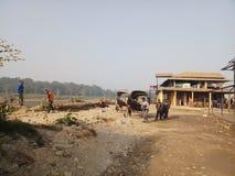 Normal life at chitwan stock photography