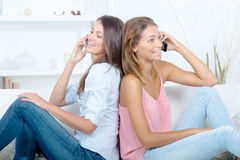 Normal socializing today. The normal socializing of today Royalty Free Stock Photography