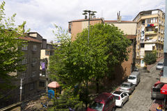 A normal street in Istanbul Royalty Free Stock Photography