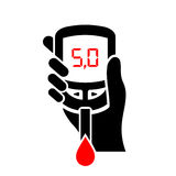 Normal sugar level in blood icon Royalty Free Stock Image
