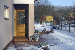 normala använde linjära dörrlutningar för jul a4 ingen proportionsstordia kranen Arkivbilder