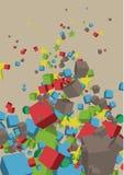 normala former för sammansättning 3d Stock Illustrationer