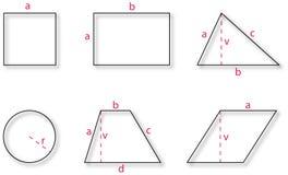 normala geometriska former Stock Illustrationer