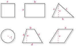 normala geometriska former Royaltyfri Bild