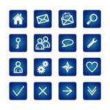 normala symboler ställde in rengöringsduk Arkivbilder