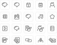 Normale Ikone eingestellt: Internet und Blog Stockbild