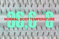 Normale lichaamstemperatuur royalty-vrije stock fotografie