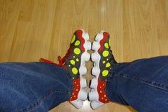 Normale Schuhe Lizenzfreies Stockfoto