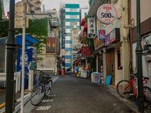 Normale straat in Tokyo royalty-vrije stock afbeeldingen