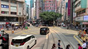 Normale Tages-Wan Chai City-Ansichten stock video