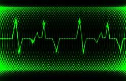 Normaler Kurvenrhythmus des bunten menschlichen Herzens, Elektrokardiogrammaufzeichnung Helles und mutiges Design Stockfoto
