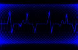 Normaler Kurvenrhythmus des bunten menschlichen Herzens, Elektrokardiogrammaufzeichnung Helles und mutiges Design Stockbild
